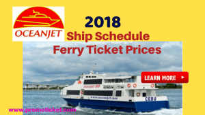 OceanJet 2018 Trip Schedules/ Ticket Prices and Promo Fares