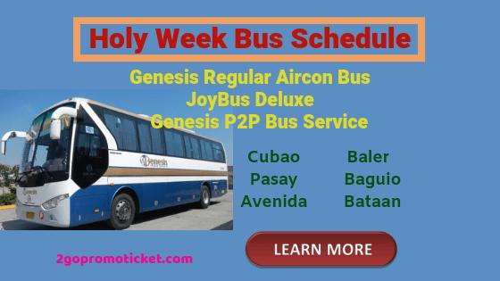 genesis-bus-joybus-genesis-p2p-service-schedule-holy-week