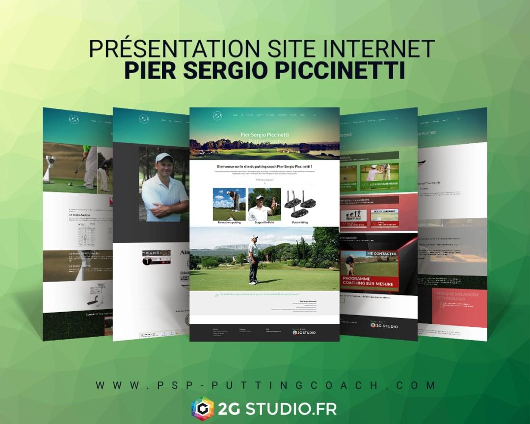 Présentation site internet Pier Sergio Piccinetti