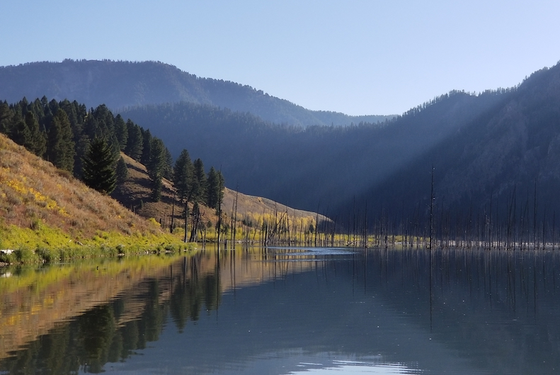 fishing Quake Lake