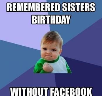 Happy Birthday Memes For Sister 2happybirthday