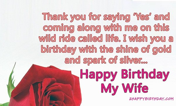 Sweet Birthday Wishes & Messages for Wife - 2HappyBirthday