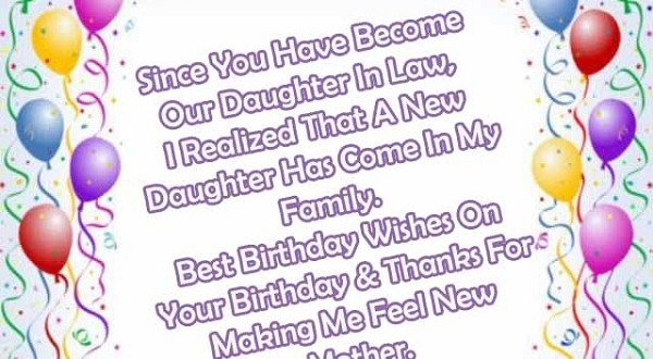 Sweet Birthday Wishes Messages For Daughter In Law 2happybirthday