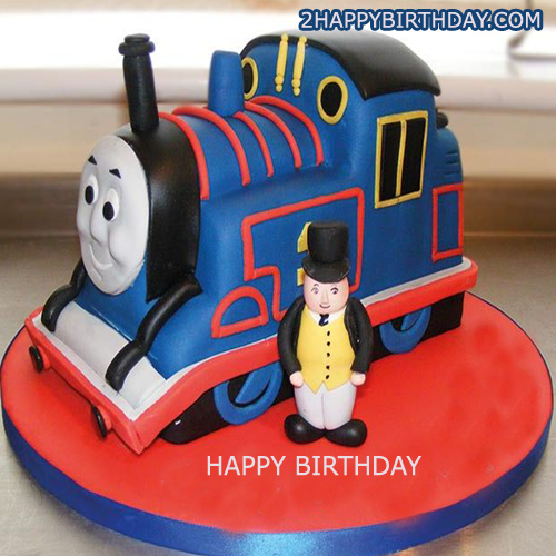 Thomas The Train Birthday Cake For Kids With Name 2happybirthday
