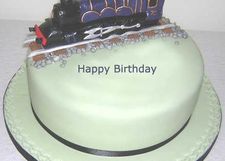 Happy Birthday Train Cake For Kids With Name 2happybirthday