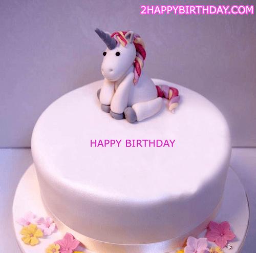 Unicorn Happy Birthday Cake With Name 2happybirthday