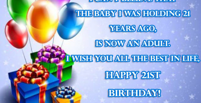 Happy 21st Birthday Wishes Messages 2happybirthday