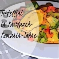 Tortellini in Knoblauch-Rosmarin-Sahne mit Tomaten und Brokkoli