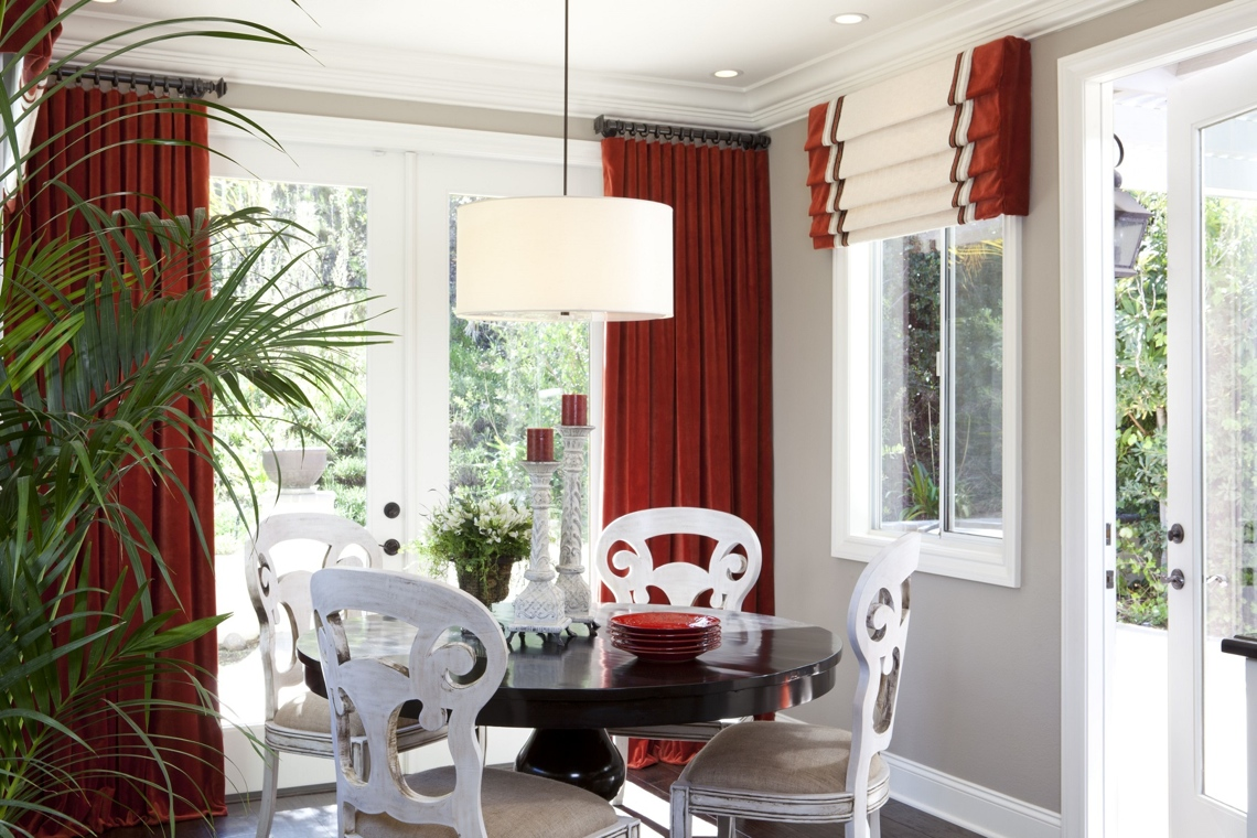 Stylish Transitional Dining Room Before and After Robeson Design     Stylish Transitional DIning Room 1 1 After