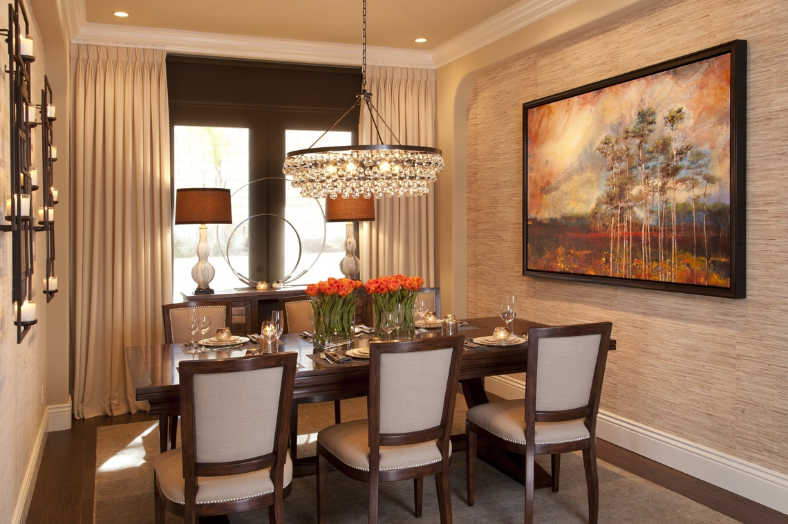 Vibrant Transitional Dining Room Before And After