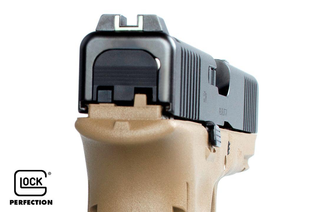 PSA Glock 17 Gen 5 FR vu de l'arrière de la glissière / culasse (source image Starik forum Glock).