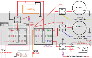 3 relay cooling fan wiring    > question