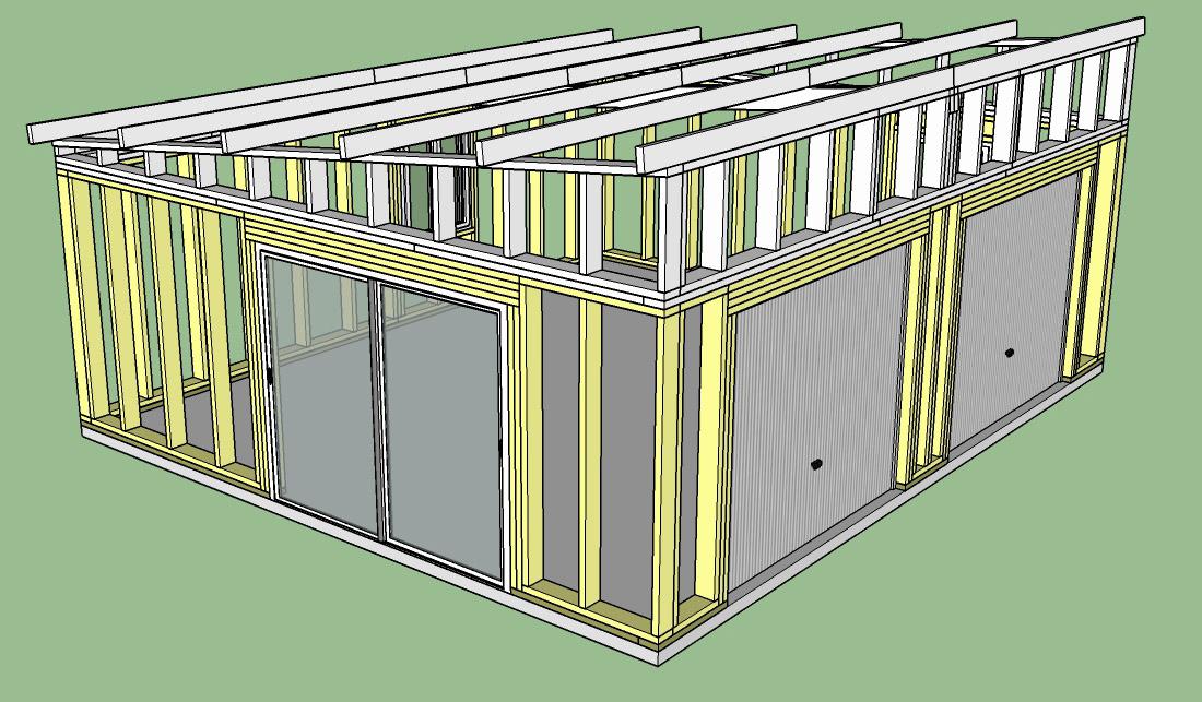 Construction D Un Garage Double En Ossature Bois