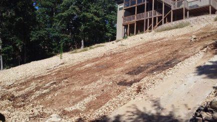 graveled-slope