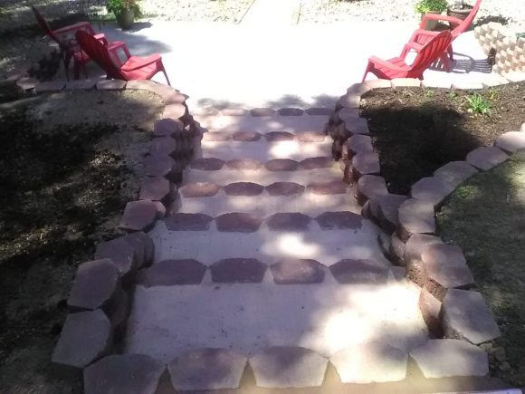 hardscaped stairs