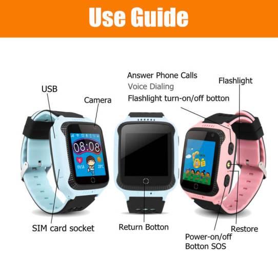 Детские смарт-часы с GPS трекером и фонариком G900A