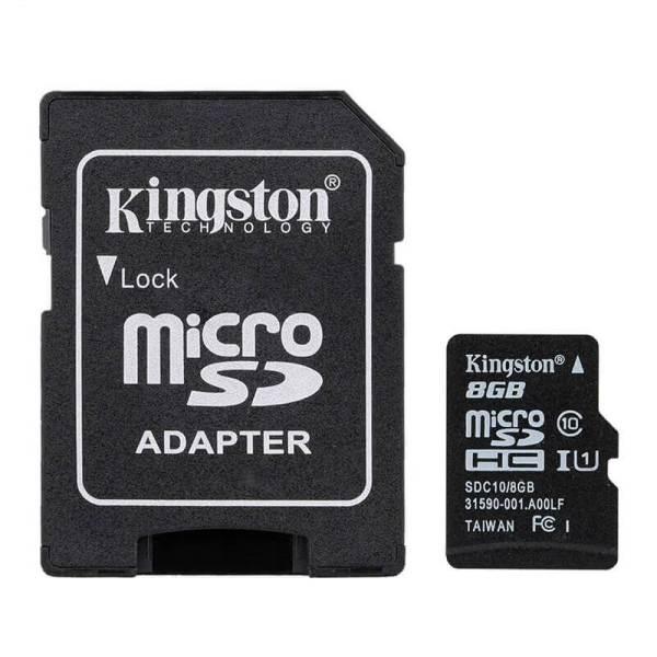 Карта памяти Kingston MicroSDHC 8GB Class 10 + SD Adapter