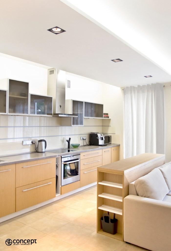 Küche im offenen Wohnraum