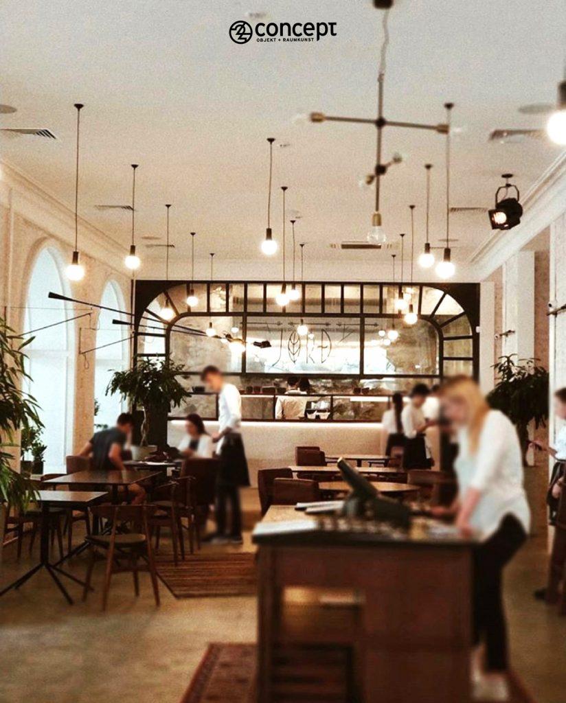 Küchenstil und generelles Stilkonzept eines Restaurants