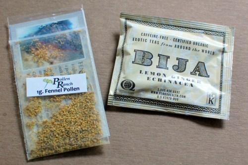 """Fennel pollen & """"exotic"""" tea."""