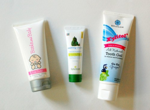 Natural lotions & tooth gel.