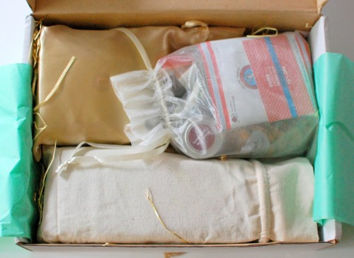 First look -- Everything was all tucked away into cute little pouches.