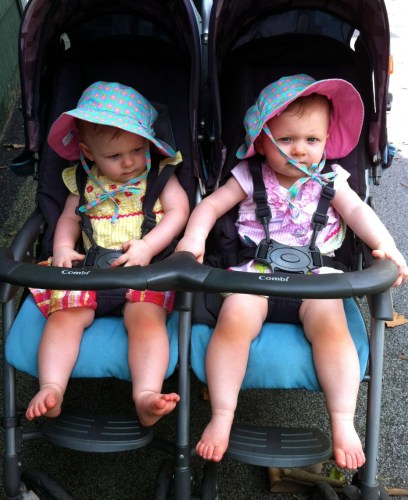 Off to the carnival! (They were NOT thrilled about wearing those hats.)
