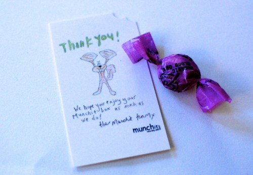 Organic candy & a thank you.