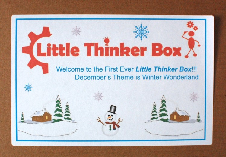 Little Thinker Box December 2013 Review & Discount Code