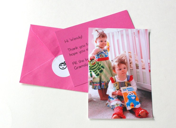 Gramsly box thank you cards and photo