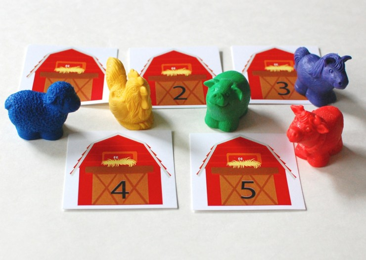 M is for Monster farm animal counting