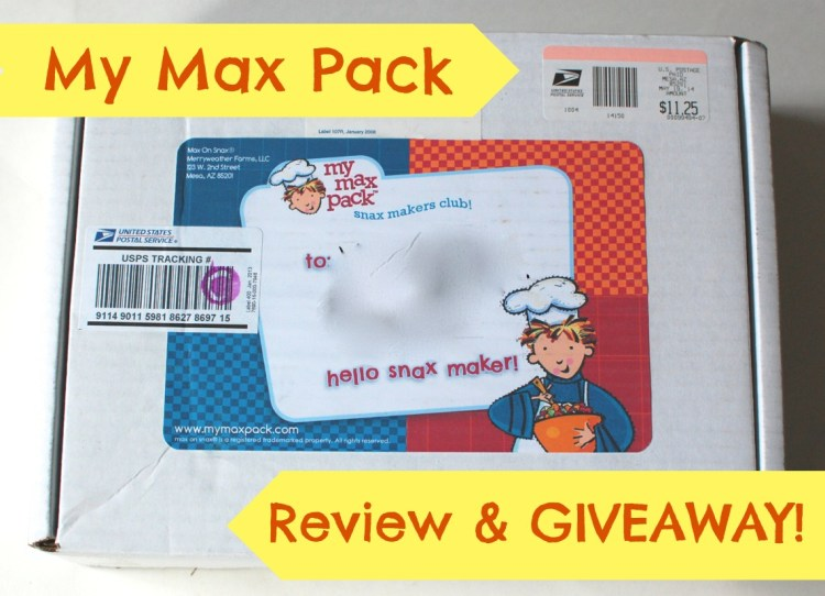 "Max on Snax ""My Max Pack"" Review & Giveaway! Ends 6/15/14"