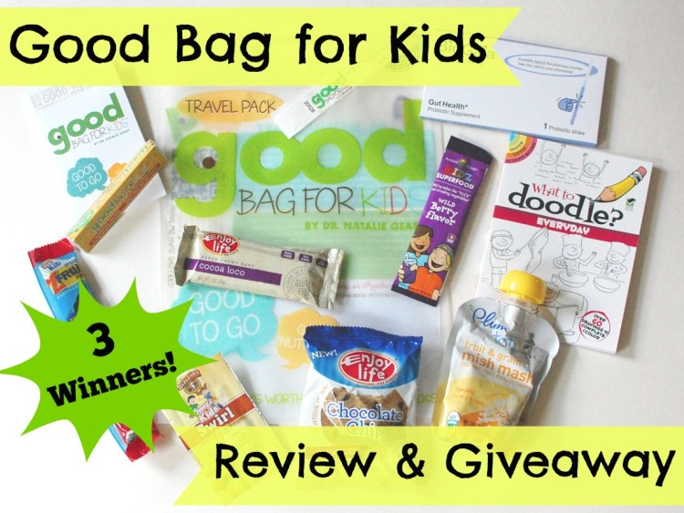 Good Bag for Kids Review & Giveaway (3 Winners!) Ends 7/13/14