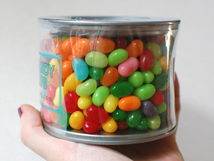 Brightly colored jelly beans
