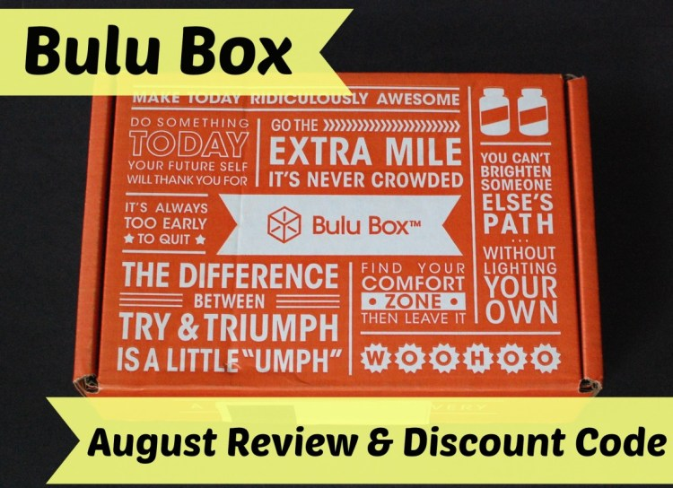 Bulu Box Weight Loss Box August 2014 Review & 50% Off Discount Code