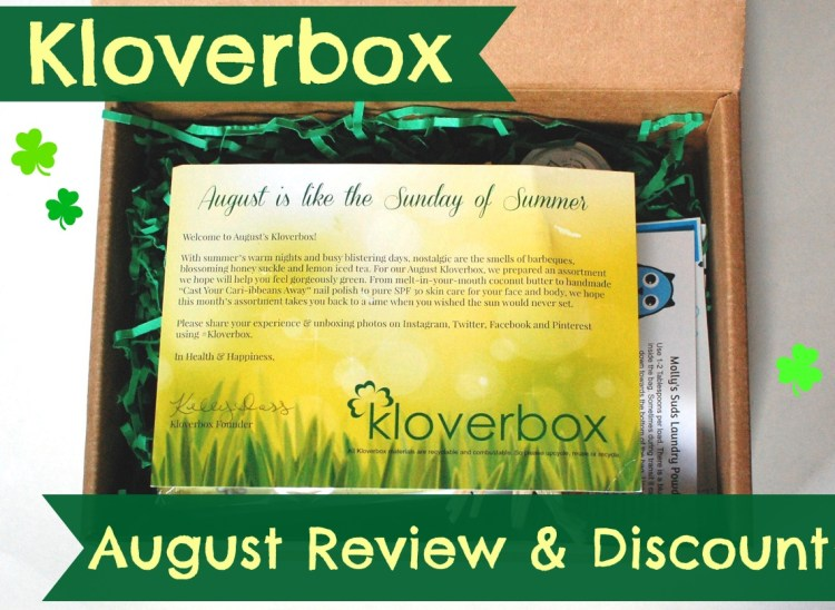 Kloverbox August 2014 Review & Discount Code!