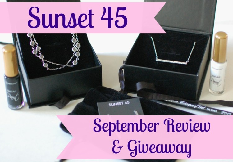 Sunset 45 Little Luxuries September 2014 Box Review & Giveaway!