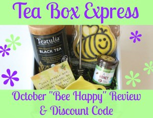 "Tea Box Express October ""Bee Happy"" review & discount code"