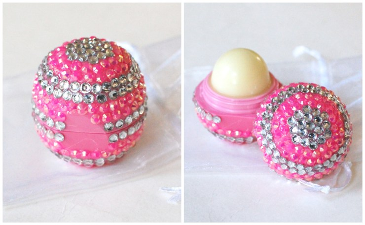 Handmade Rhinestoned EOS Lip Balm