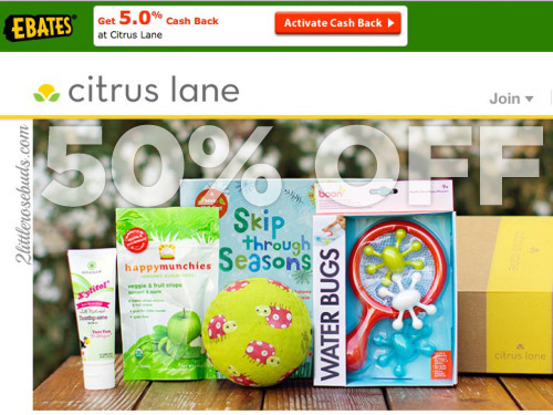 "50% OFF your Citrus Lane purchase with promo code ""FIRST"""
