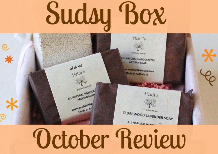 Sudsy Box October 2014  Review & Discount