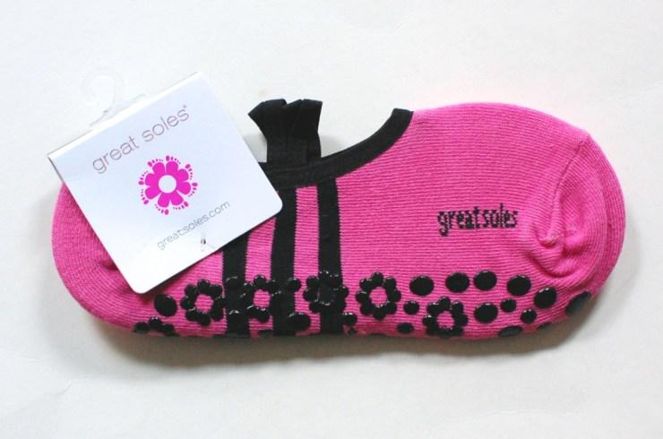 Pink Great Soles Yoga Socks
