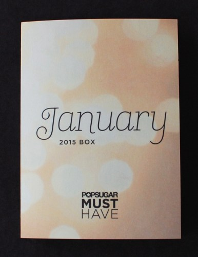 January 2015 Popsugar Must Have box info sheet