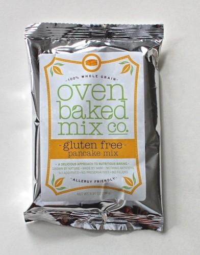 Oven Baked Organics pancake mix
