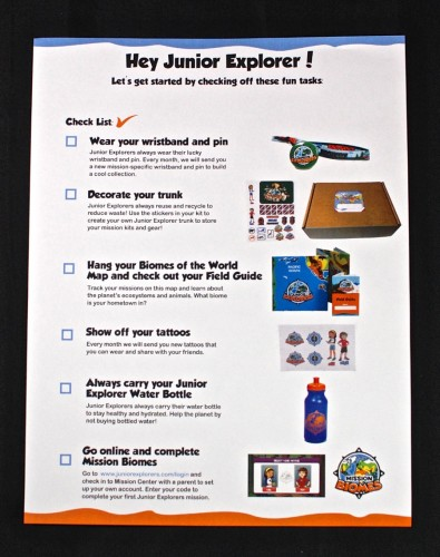 Junior Explorers welcome kit