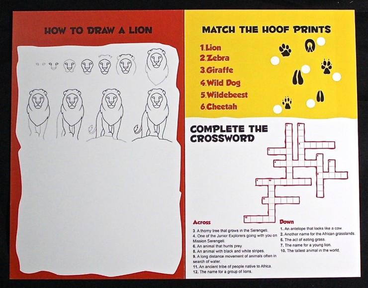 Junior Explorers activity book