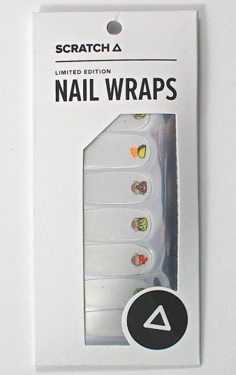 Scratch nail wraps
