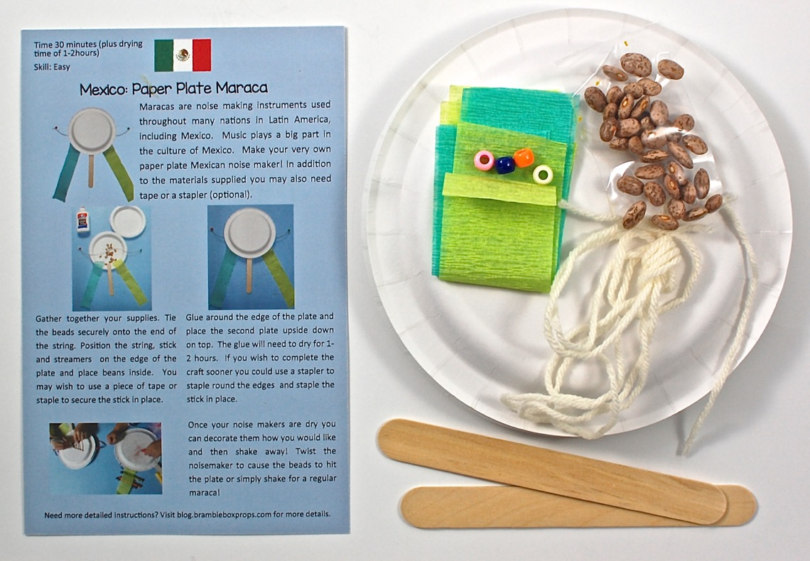 Mexico Paper Plate Maracas u2013 My kids love anything that makes noise so I knew these would go over well. Included were enough supplies to make 2 maracas 4 ... & Bramble Box June 2015 Review Coupon Code u0026 Giveaway - 2 Little Rosebuds
