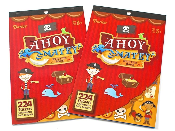 pirate sticker books