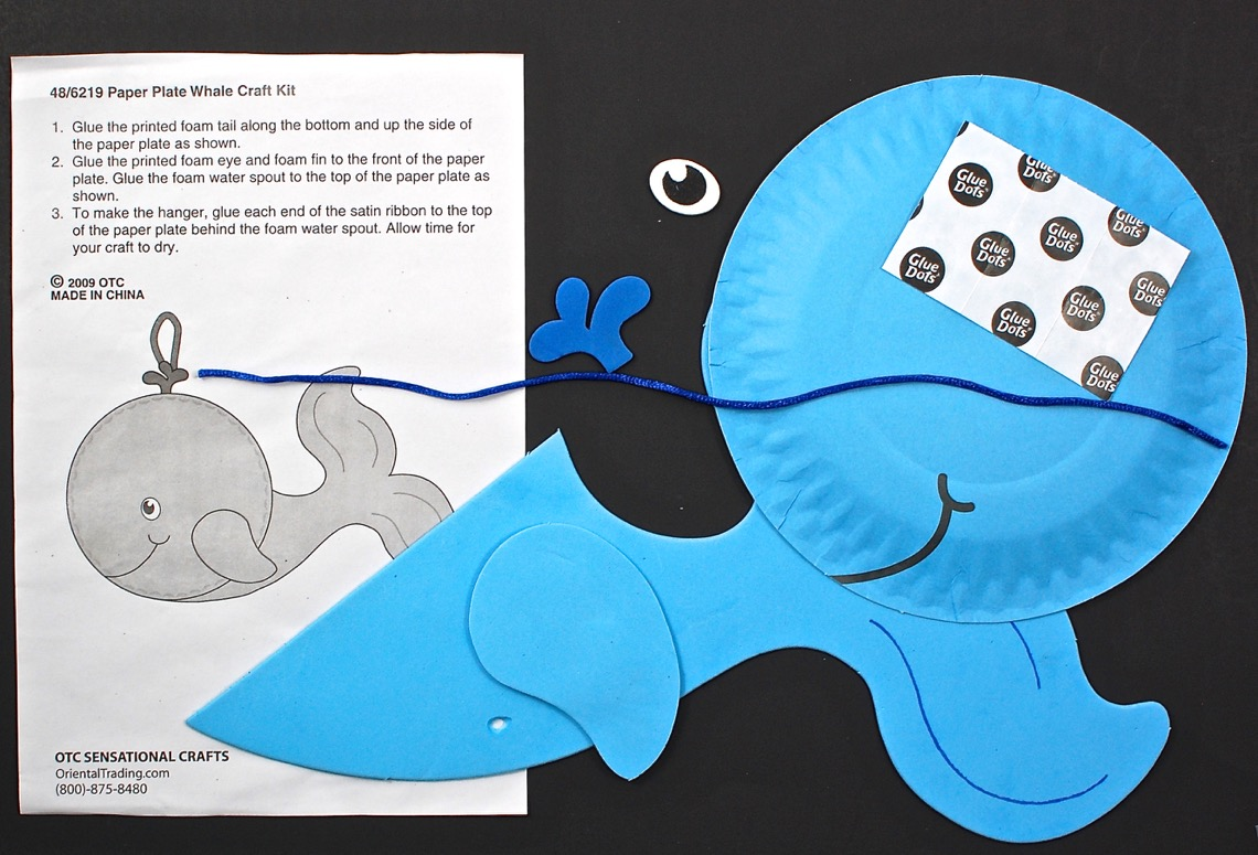 Paper Plate Whale In The Playroom & Paper Plate Whale Craft - Best Plate 2018
